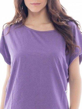 Leone - T-shirt fioletowy