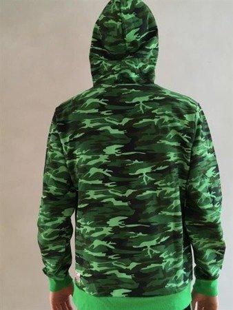 Leone - bluza z kapturem Camo zielony