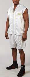 Leone1947 szlafrok bokserski, krótki z kapturem biały rozmiar S/M [AB261]