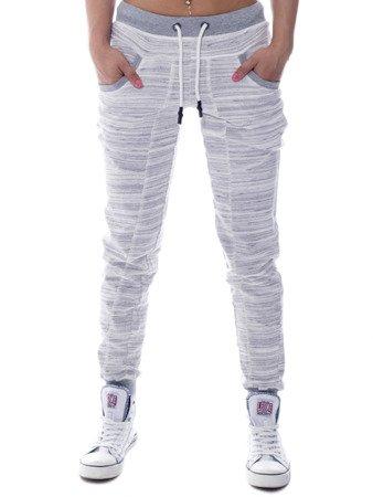 spodnie dresowe damskie szare